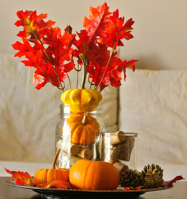 Autumn Table Setting, Thanksgiving Centerpiece