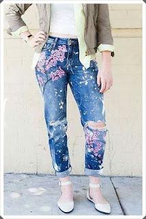 Elişi Kumaş Boya ile Pantolon Süslemesi Yapımı, Resimli Açıklamalı