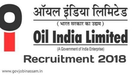 Oil India Recruitment 2018
