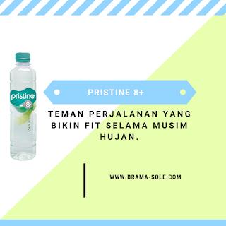 Pristine 8+, Teman Perjalanan Yang Bikin Fit Selama Musim Hujan.