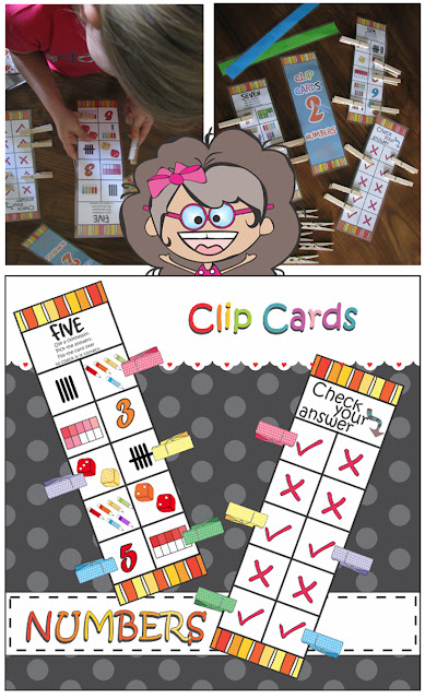 Numbers 1 to 10 Clip Cards for Busy Bag and Fast Finishers Corner