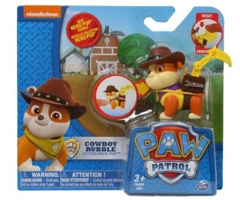 Paw Patrol Cowboy Rubble Figure