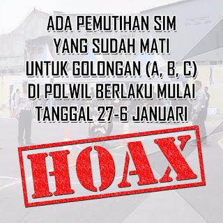 Info Pemutihan SIM Adalah Berita HOAX