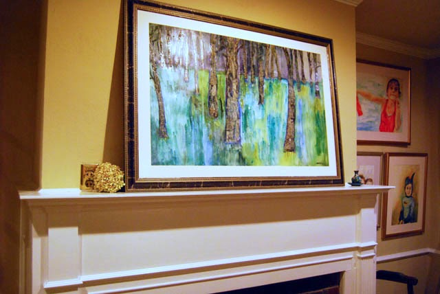 original modern abstract landscape art mixed media collate art by Miriam Schulman http://www.miriamschulmanstudio.com/index.html