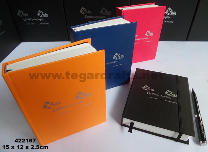 Tampak Gambar Diatas Buku Agenda Ready Stock Dengan Cover Kulit Sintetis Dengan Branding Logo Dua Warna
