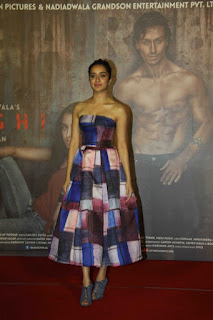 Actress Shraddha Kapoor Latest Stills in Shoulderless Dress at Baaghi Trailer Launch 0016