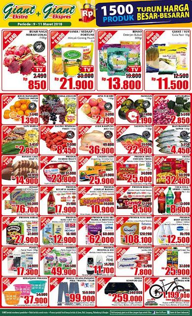 Katalog Promo GIANT Ekspres GIANT Ekstra Akhir Pekan Periode 09 - 11 Maret 2018