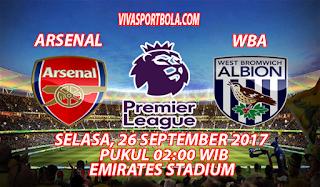 Prediksi Arsenal vs West Bromwich 26 September 2017