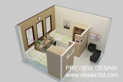 Jasa pembuatan Gambar Online Desain Interior Rumah Susun Murah Berpengalaman