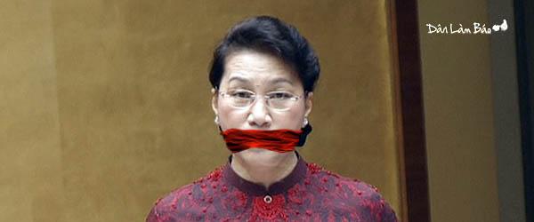 Chủ tịch Nguyễn Thị Kim Ngân bị cho méo miệng, bịt mồm