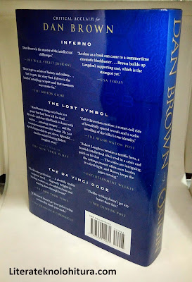 dan brown novel origin rear cover