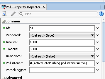 Using af:poll to refresh and push data in page and databound