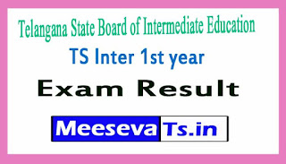 TS Inter 1st year  Exam Results  2017