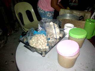 Filipino street food fish balls