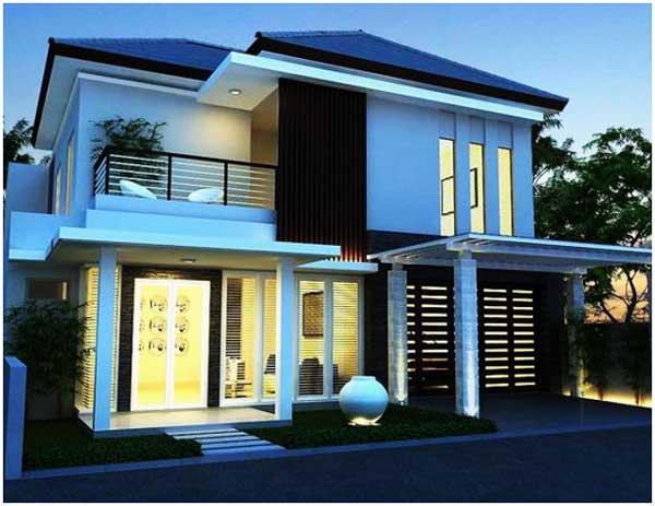 desain rumah minimalis sederhana model atap perisai