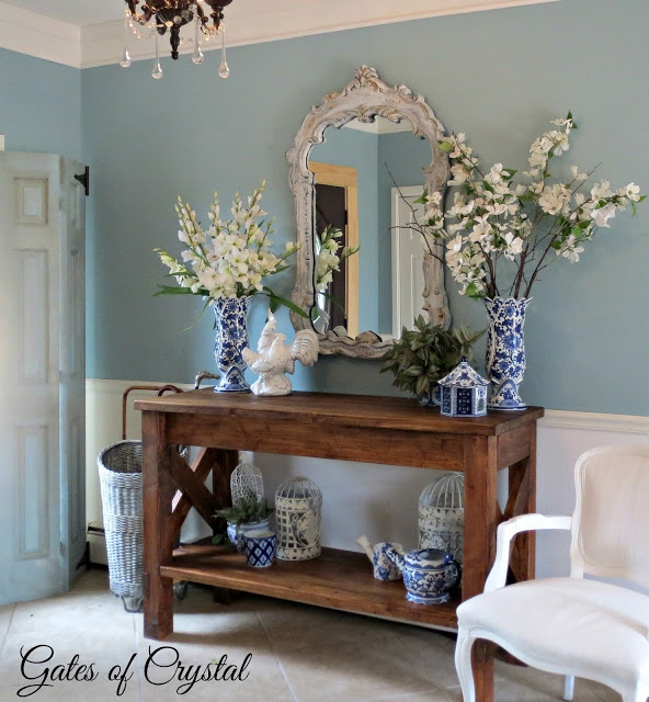 Foyer Makeover-Gates of Crystal-Weekly Blog Link Up Party-Treasure Hunt Thursday- From My Front Porch To Yours