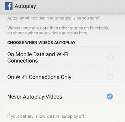 Cara Nonaktifkan Auto Play Video di Facebook