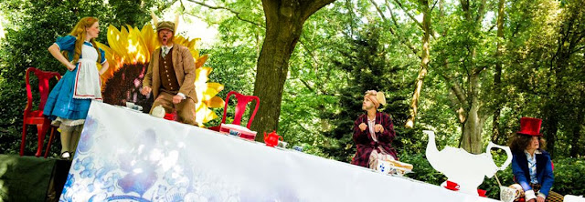 Alice's Adventures in Wonderland, the tea party - Opera Holland Park - 2014,  photo credit Alex Brenner