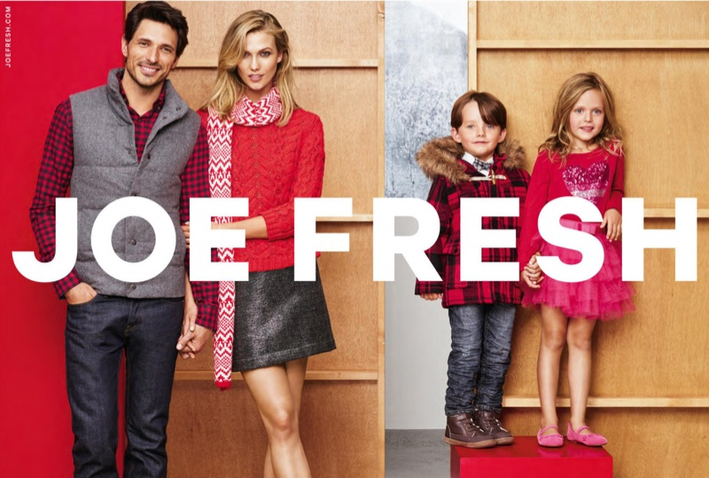 Karlie Kloss stars for the Joe Fresh Holiday 2015 Campaign