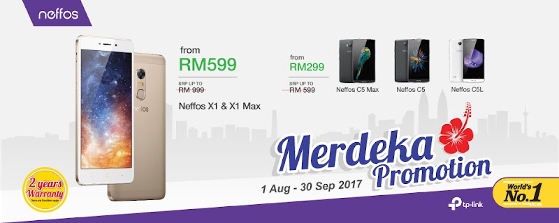 ENJOY EXCITING DEALS WITH THE NEFFOS X AND C SERIES EXCLUSIVELY THIS MERDEKA PERIOD!