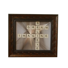 Believe, Dream, Imagine Scrabble Letters Wall Frame, Nigeria