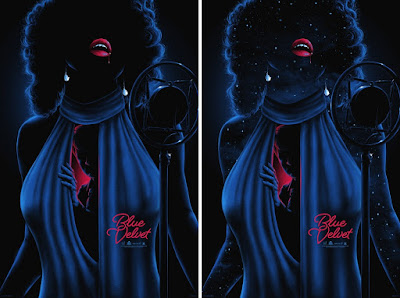 Blue Velvet Screen Print by Matt Ryan Tobin x Mad Duck Posters