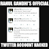 Rahul Gandhi and INC India's Twitter Account has been hacked see what hacker write on there wall