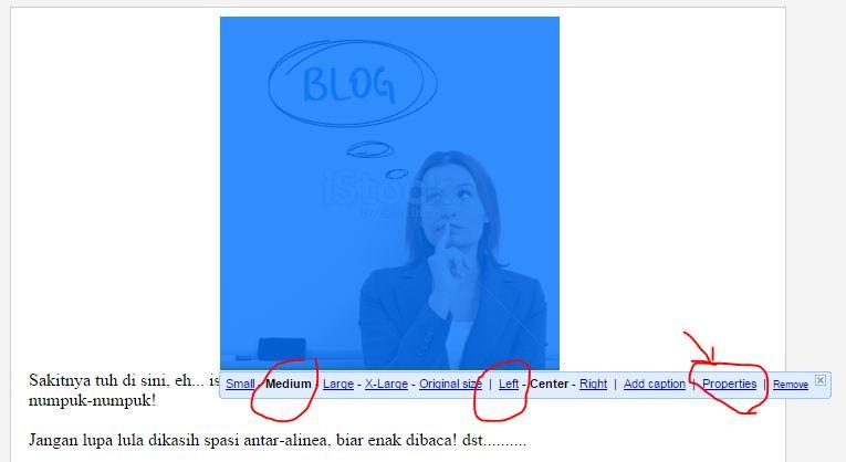 di Posting Blog yang Benar ini bergotong-royong sudah CB sisipkan di tutorial  Cara Menambahkan Foto (Gambar) di Posting Blog yang Benar