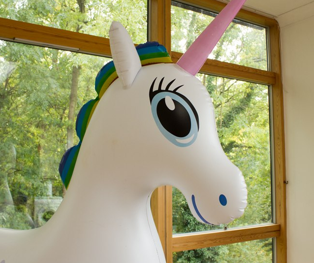 Seven Foot Tall Inflatable Unicorn