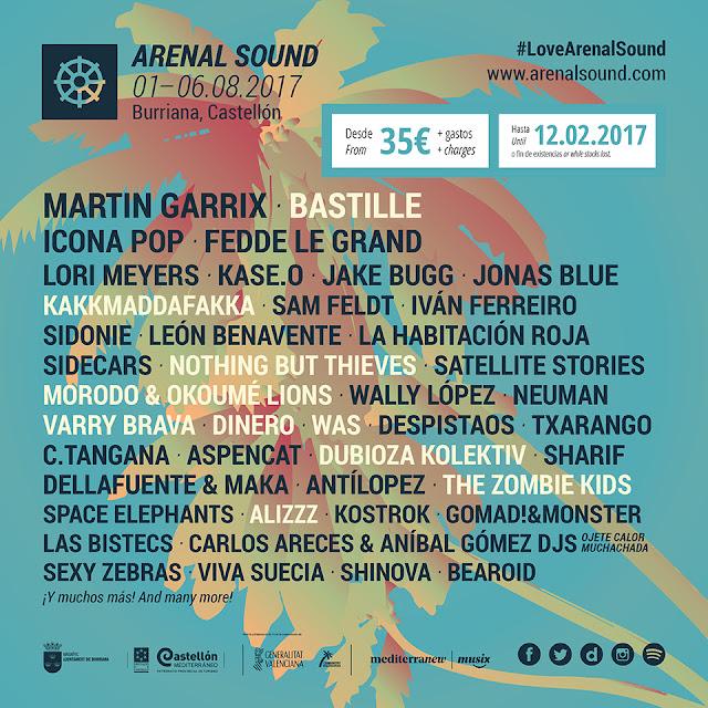 Arenal Sound, 2016, Festival, Música, cartel, 2017