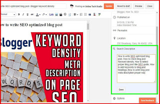 Add search description to each blog post