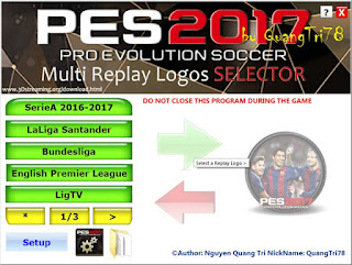 PES 2017 Replay Logo Selector V1