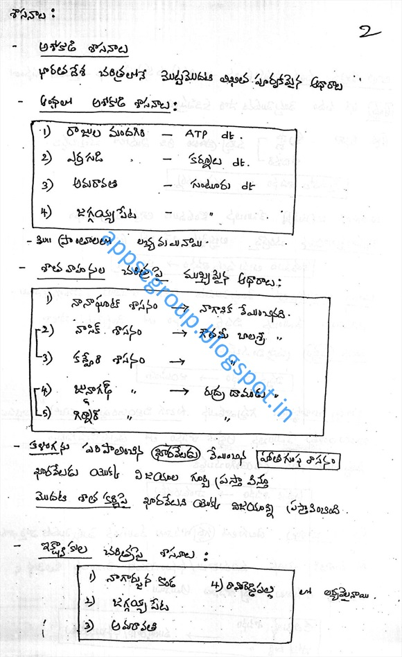200+ Pages Andhra History Class Notes: Early History of Andhra- for