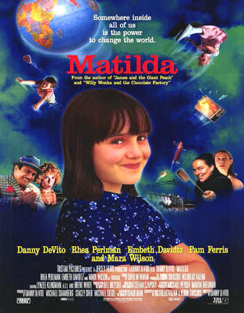 Poster Of Matilda 1996 In Hindi Bluray 720P Free Download