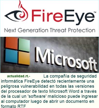 Detectan una peligrosa vulnerabilidad en todas las versiones de Word