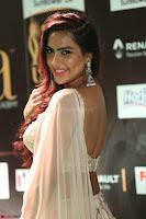 Prajna Actress in backless Cream Choli and transparent saree at IIFA Utsavam Awards 2017 0095.JPG