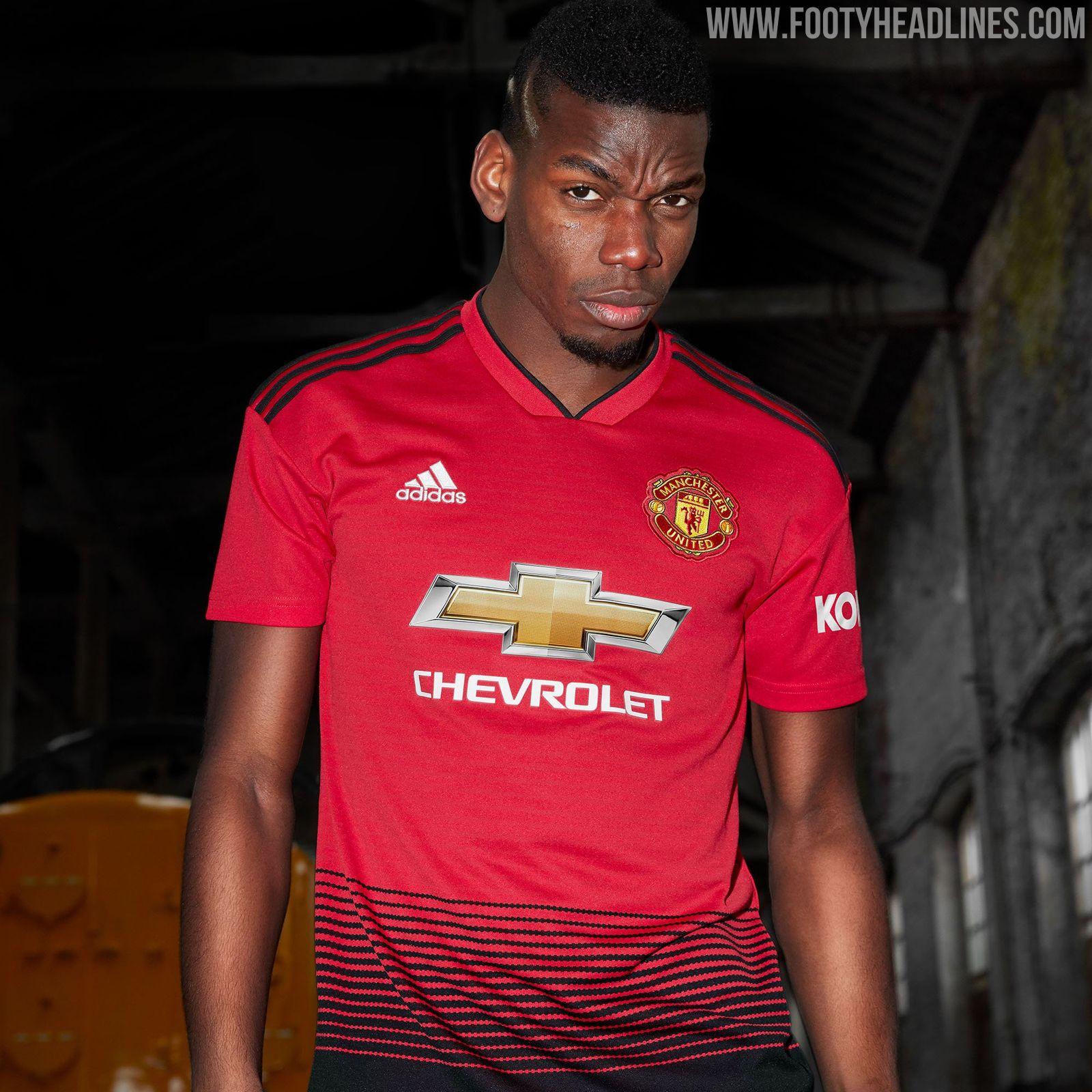 Footyheadlines Manchester United 2018 19 Season Home Kit: Manchester United 18-19 Home Kit Revealed