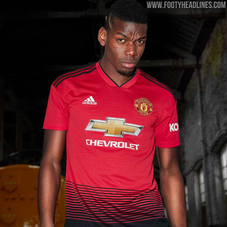 new style 335fe 1a0d4 Manchester United 18-19 Home Kit Revealed - Footy Headlines