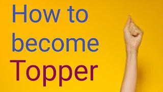 Exam topper, class topper, topper