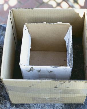 Como hacer una maceta de cemento cubo utilizando cajas - Maceta de cemento ...
