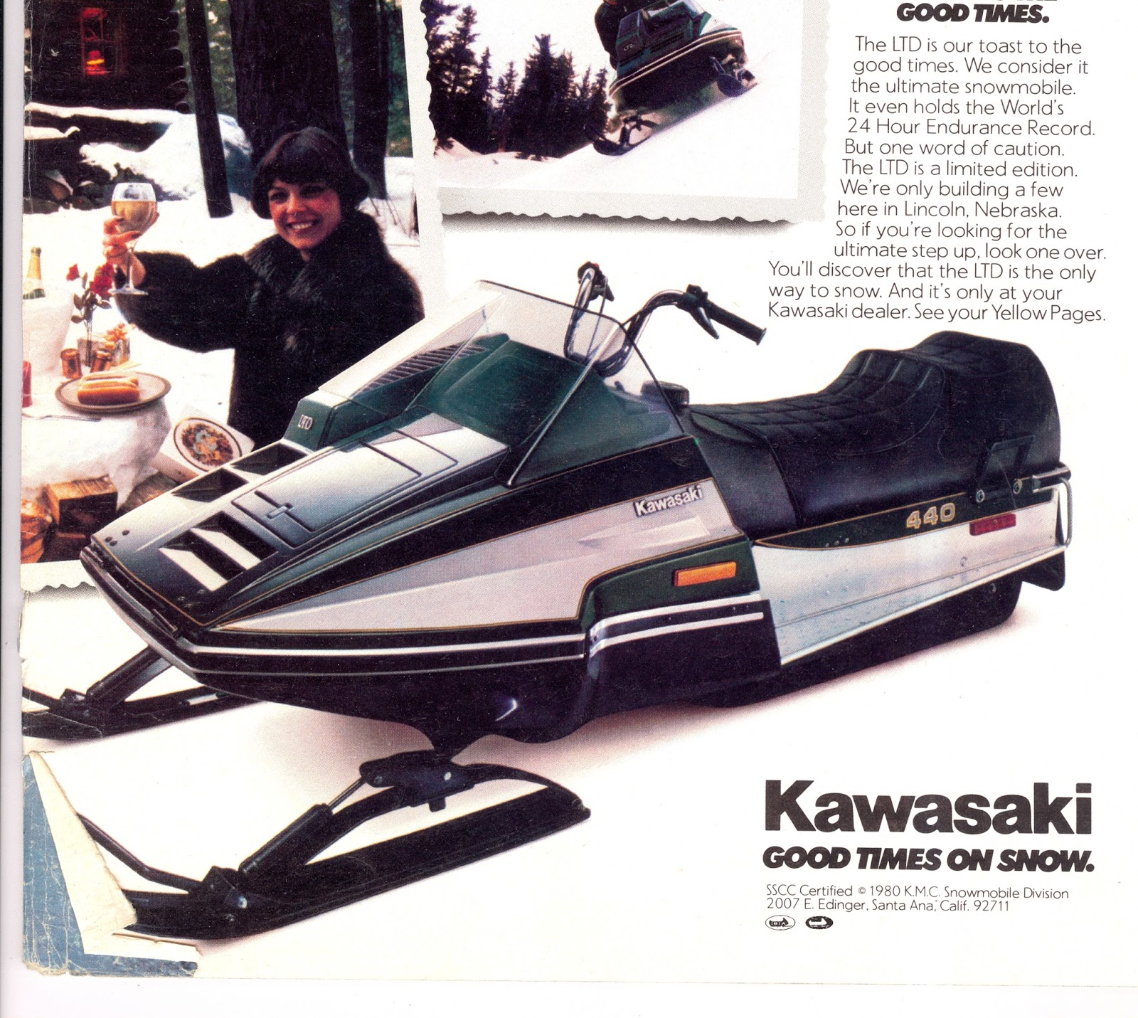 CLASSIC SNOWMOBILES OF THE PAST: 1981 KAWASAKI LTD SNOWMOBILE