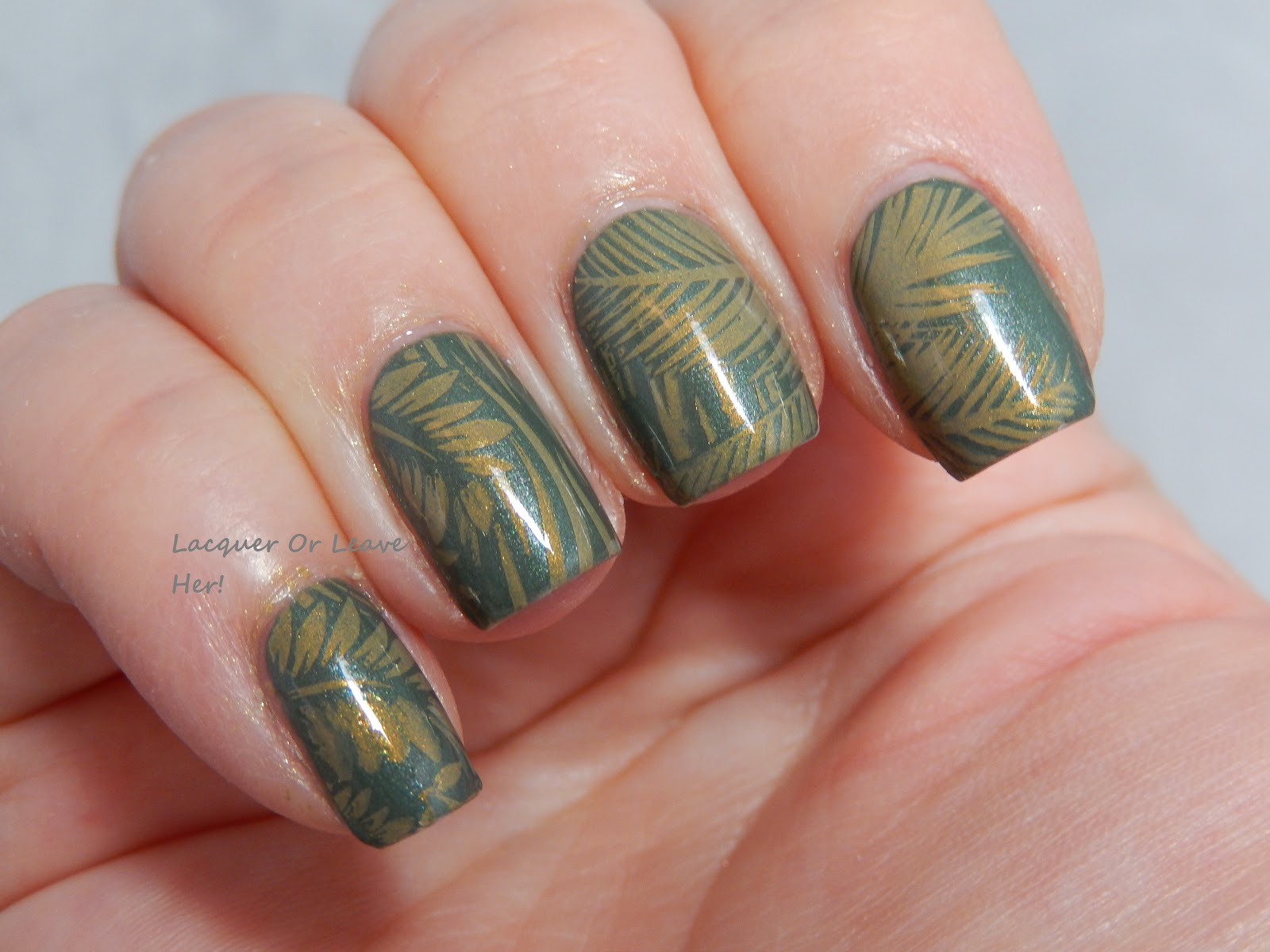 Jungle manicure with tropical 07