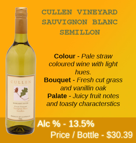 Cullen Vineyard Sauvignon Blanc Semillon 2014 Margaret River
