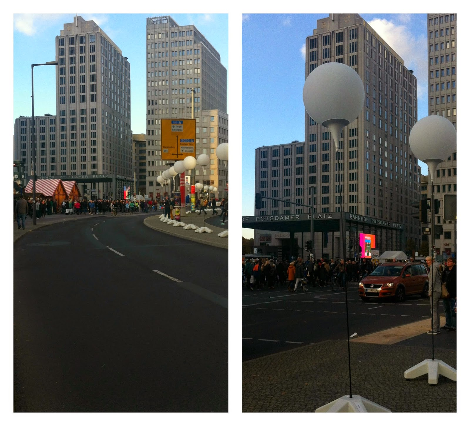 Lichtgrenze Berlin 2014 - Fronteira de luz em Berlim - comemoração dos 25 anos da queda do Muro de Berlim