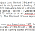 BJLAND (4219) - BLand selling BToto shares at a loss after 24 years ......?
