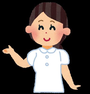 看護師・看護婦・ナースのイラスト(帽子なし)