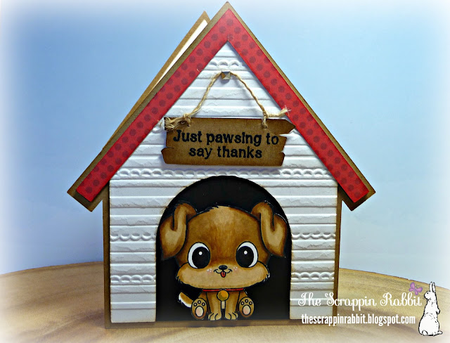 Thank You House: The Scrappin Rabbit: Dog House Thank You Card