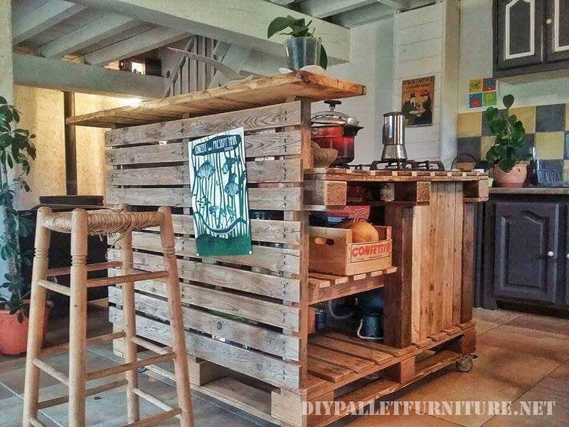 Mueblesdepalets.net: cocina isla hecha con palets
