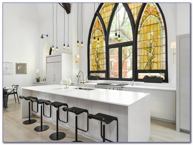Stained GLASS patterns Kitchen WINDOW ideas