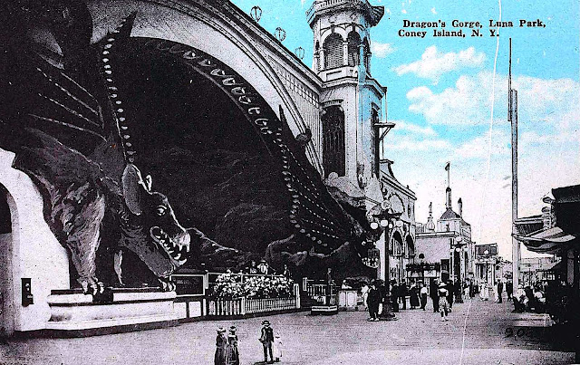 1920 Coney Island amusement park postcard